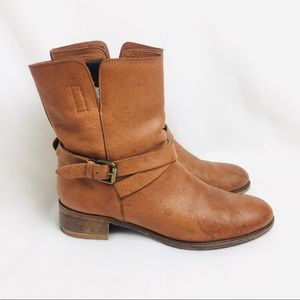J Crew Ryder Short Leather Buckle Ankle Boots